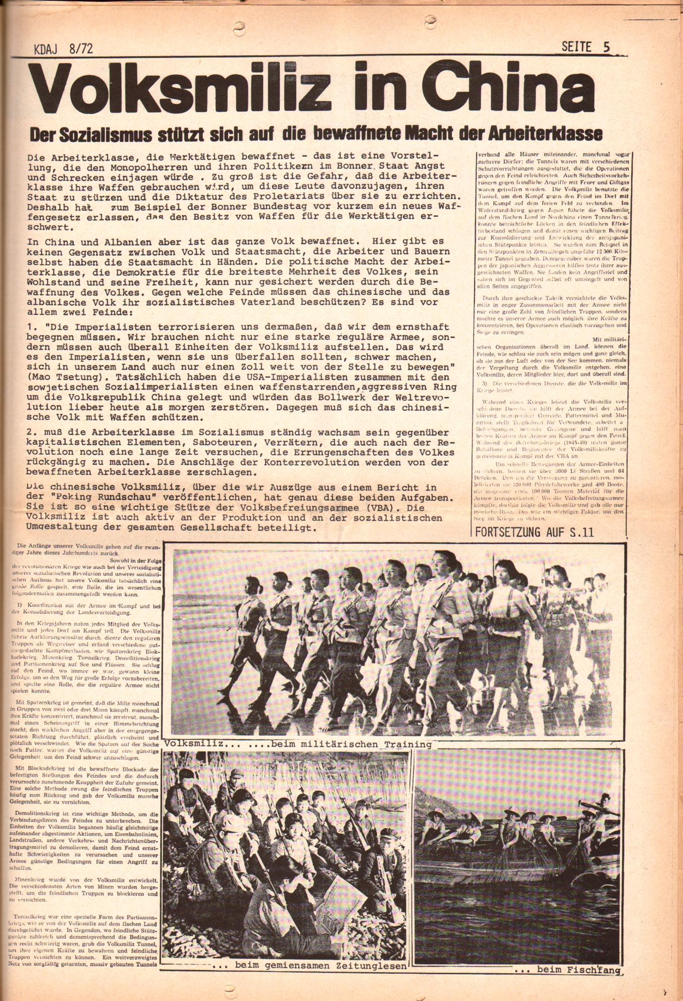 KDAJ, 3. Jg., September 1972, Nr. 8, Seite 5
