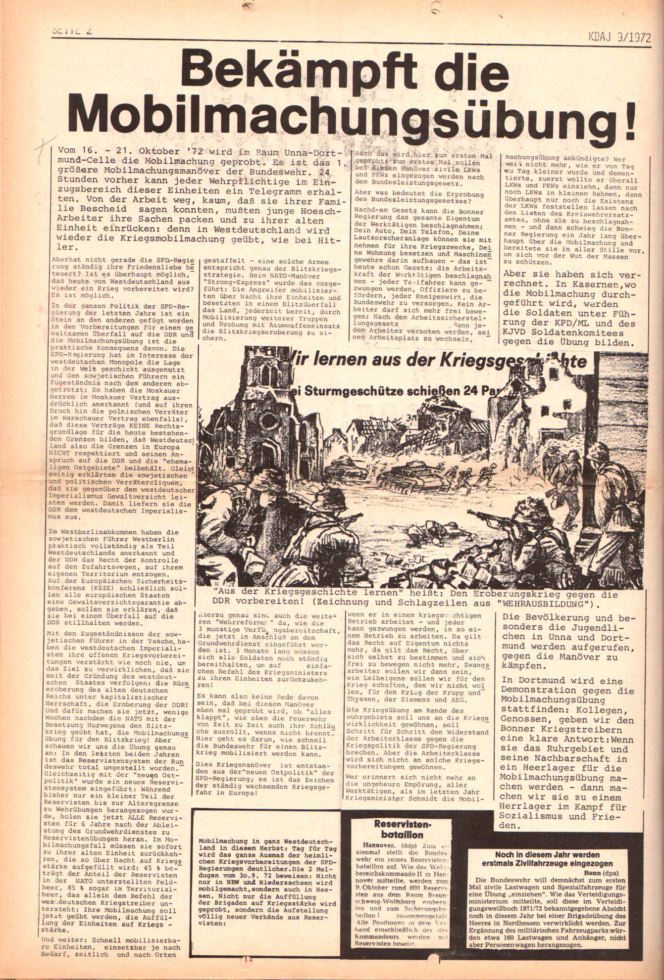 KDAJ, 3. Jg., Oktober 1972, Nr. 9, Seite 2