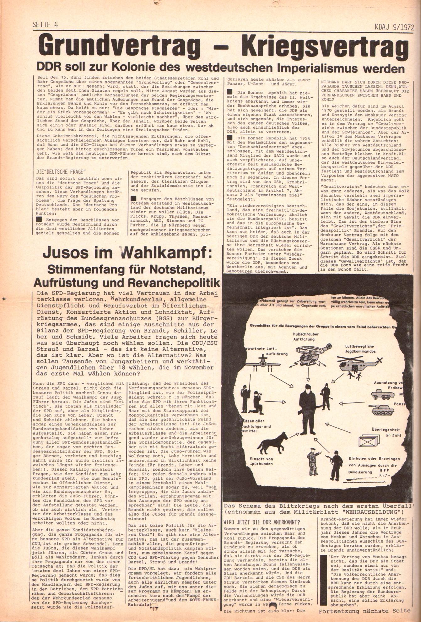 KDAJ, 3. Jg., Oktober 1972, Nr. 9, Seite 4