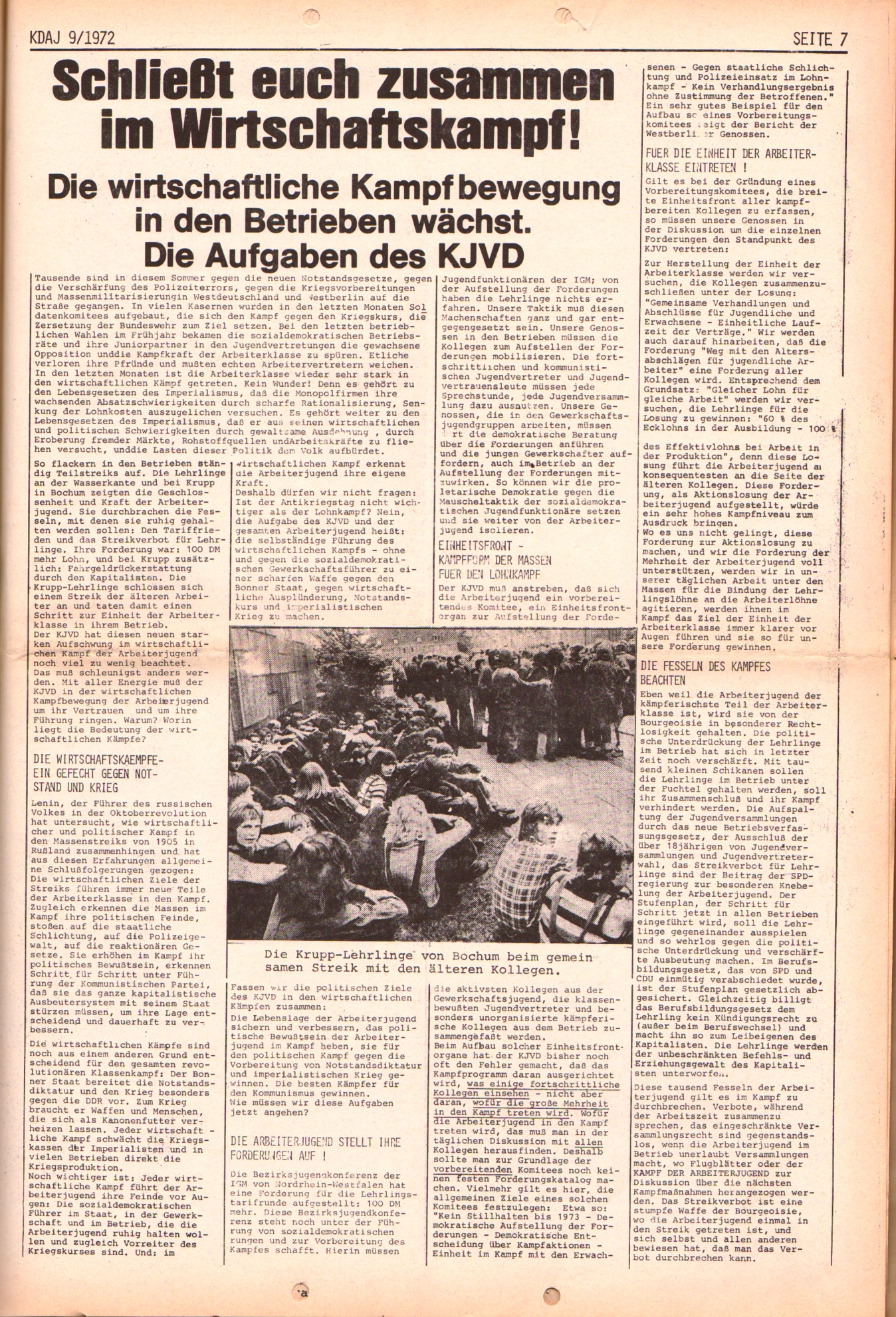 KDAJ, 3. Jg., Oktober 1972, Nr. 9, Seite 7