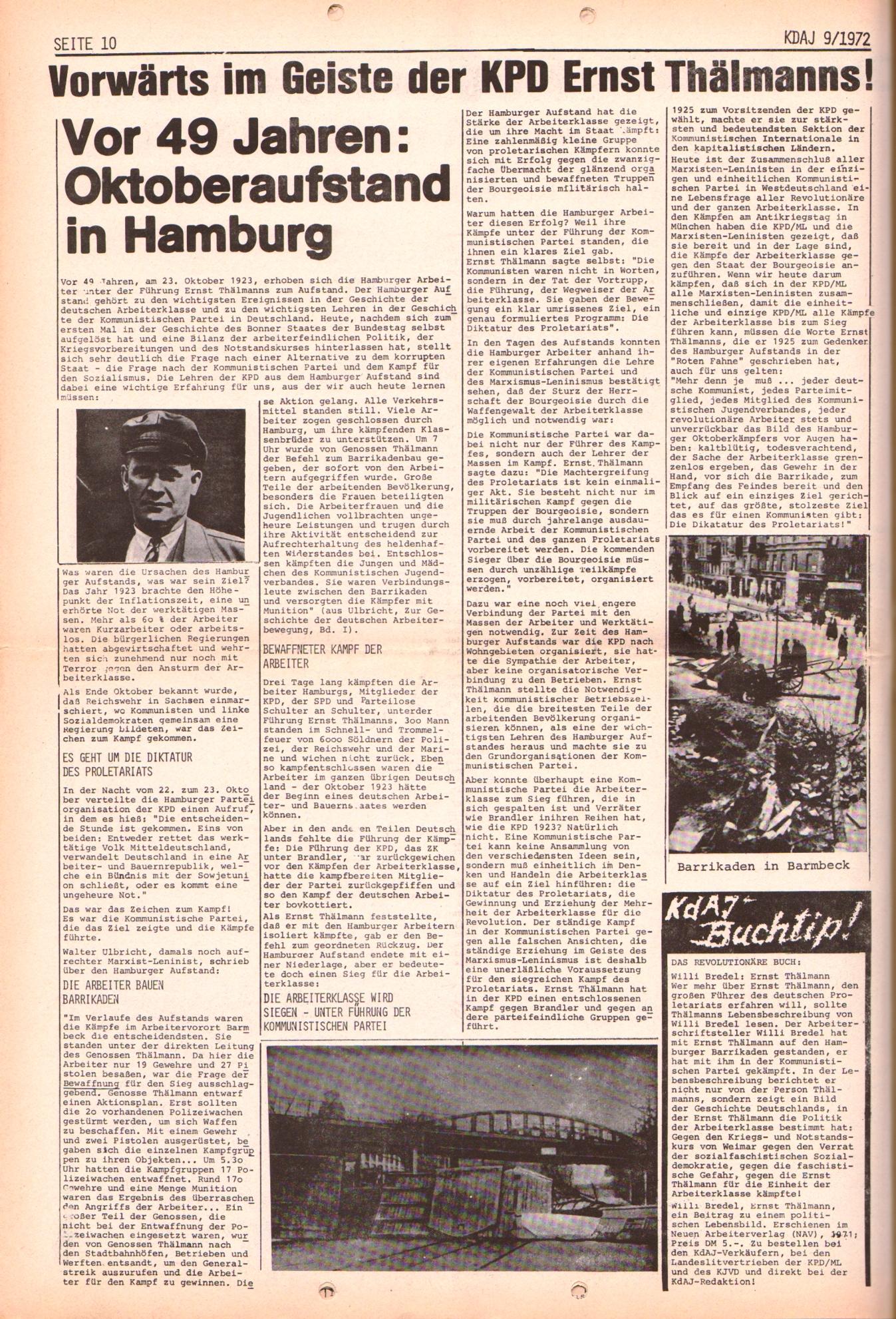 KDAJ, 3. Jg., Oktober 1972, Nr. 9, Seite 10