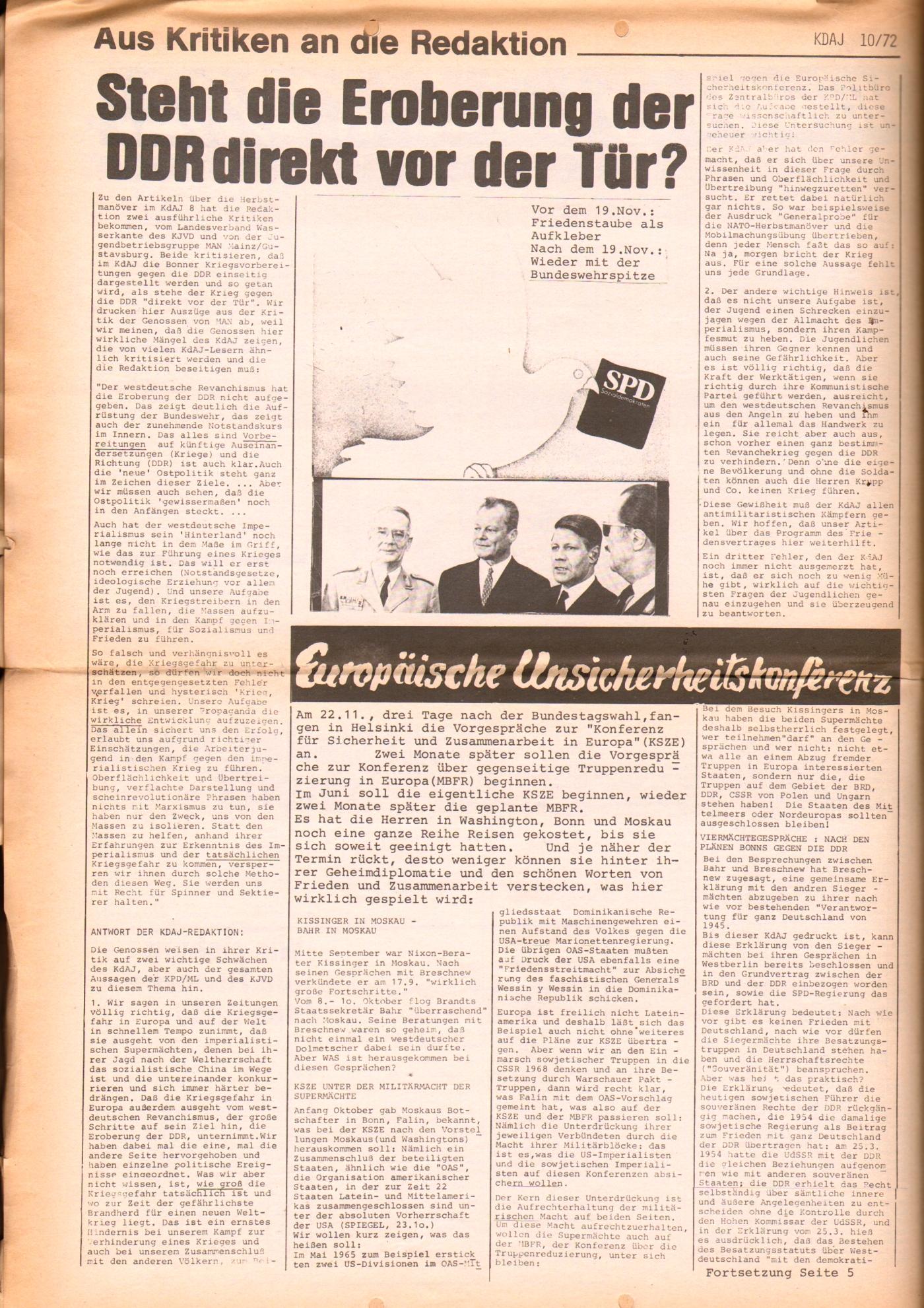 KDAJ, 3. Jg., November 1972, Nr. 10, Seite 4