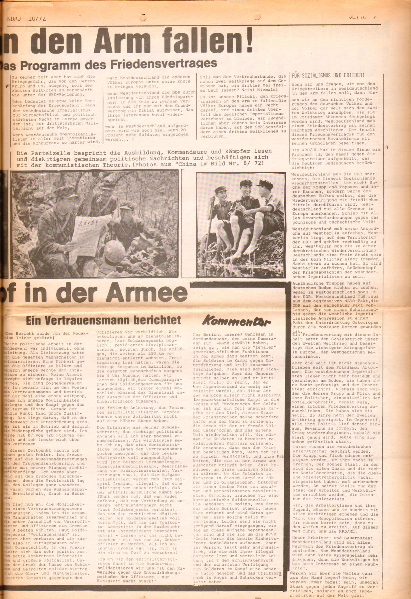 KDAJ, 3. Jg., November 1972, Nr. 10, Seite 7