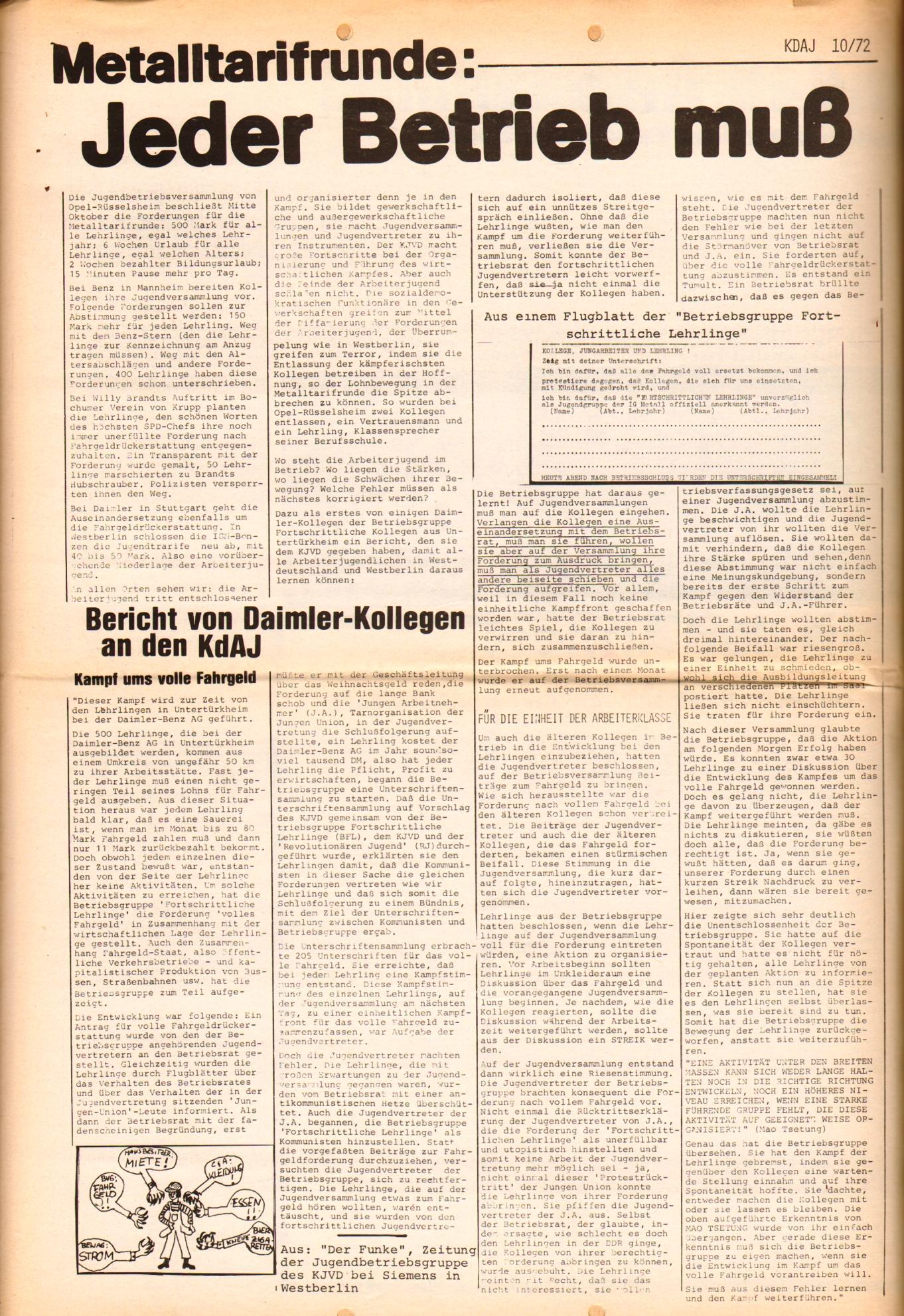 KDAJ, 3. Jg., November 1972, Nr. 10, Seite 8