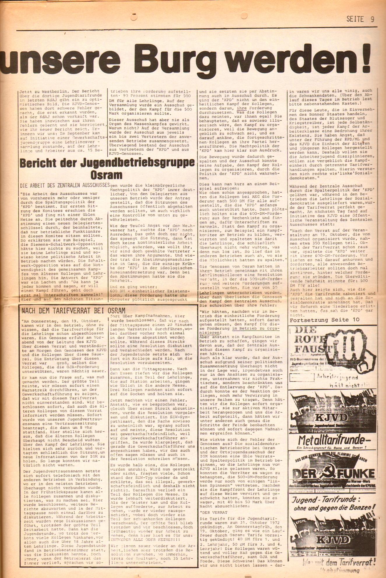 KDAJ, 3. Jg., November 1972, Nr. 10, Seite 9