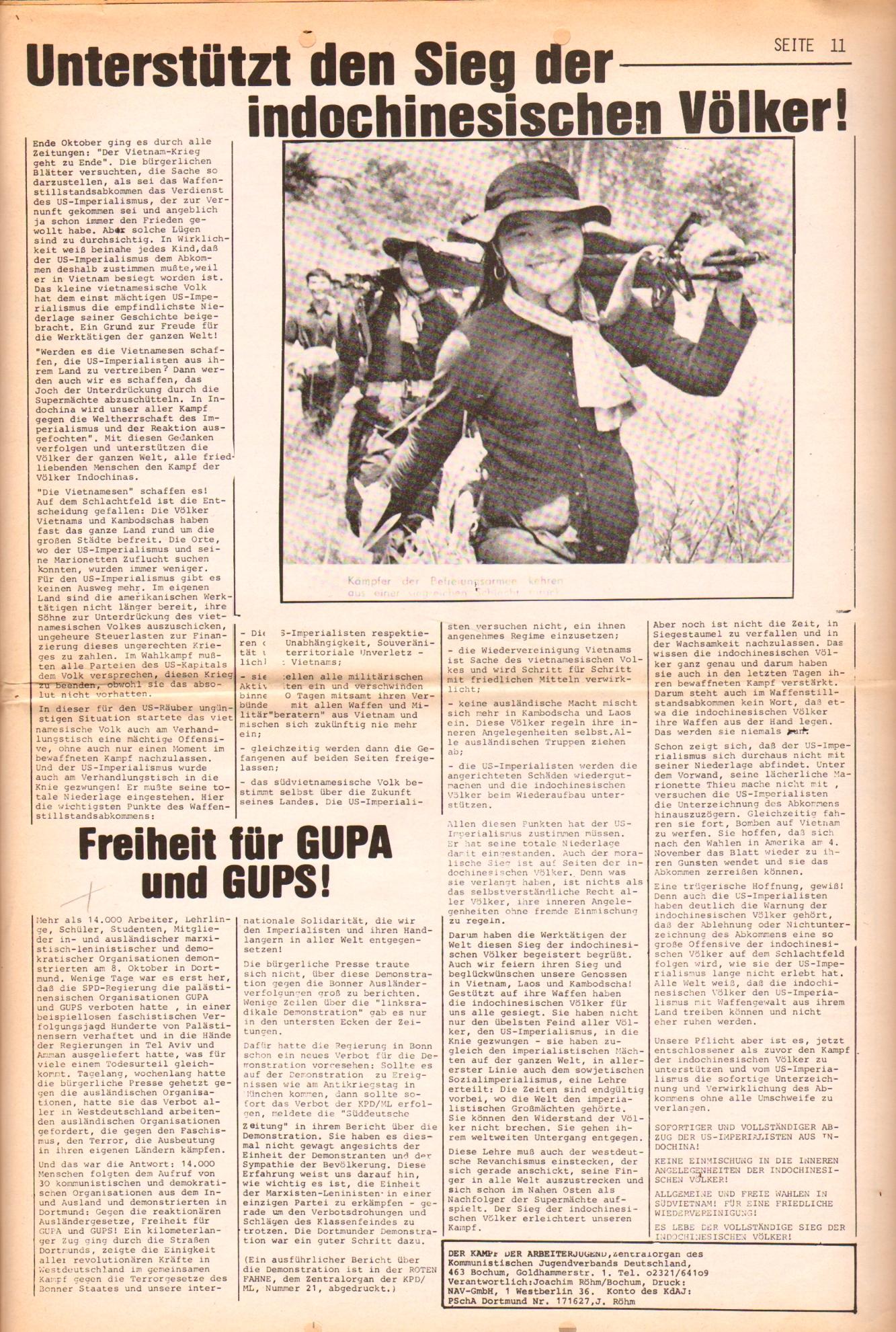 KDAJ, 3. Jg., November 1972, Nr. 10, Seite 11