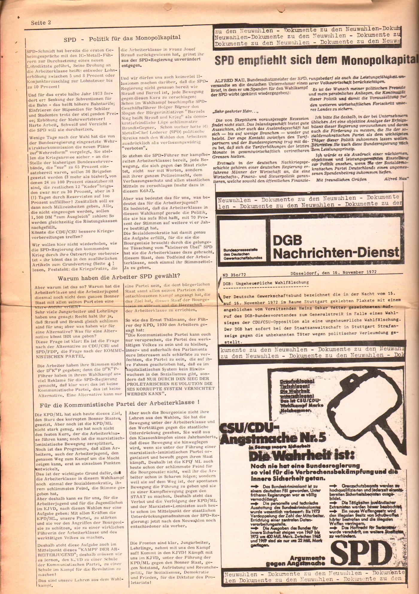 KDAJ, 3. Jg., Dezember 1972, Nr. 11, Seite 2