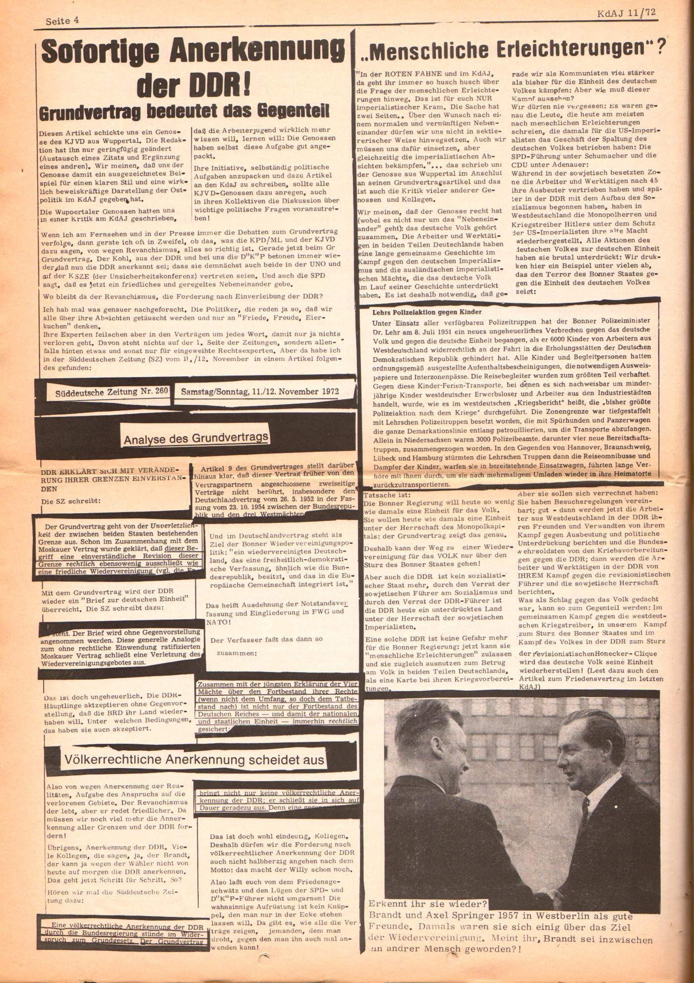 KDAJ, 3. Jg., Dezember 1972, Nr. 11, Seite 4