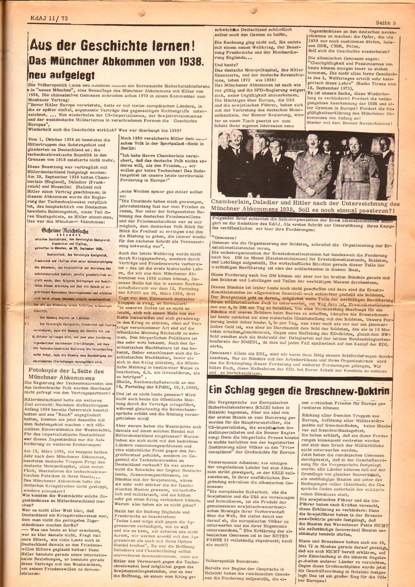 KDAJ, 3. Jg., Dezember 1972, Nr. 11, Seite 5