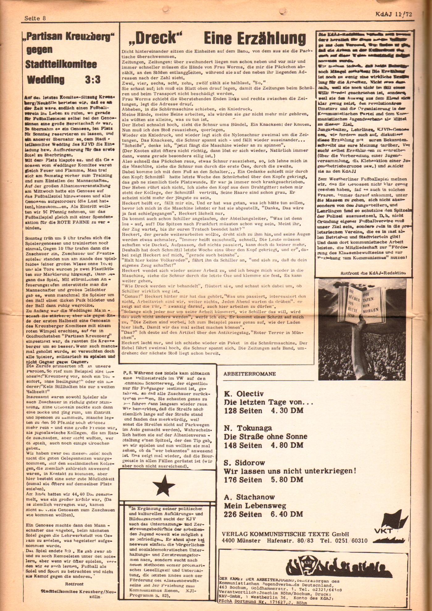 KDAJ, 3. Jg., Dezember 1972, Nr. 11, Seite 8