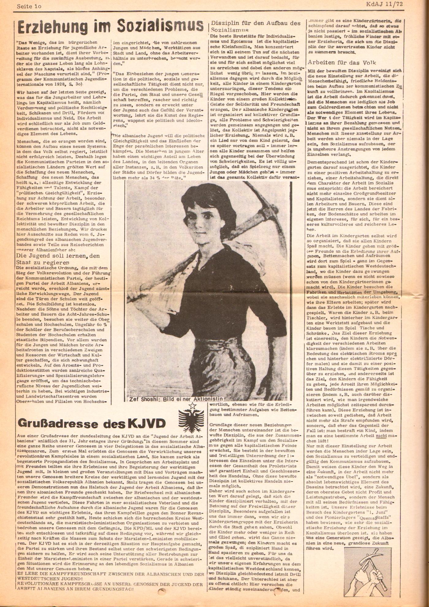 KDAJ, 3. Jg., Dezember 1972, Nr. 11, Seite 10
