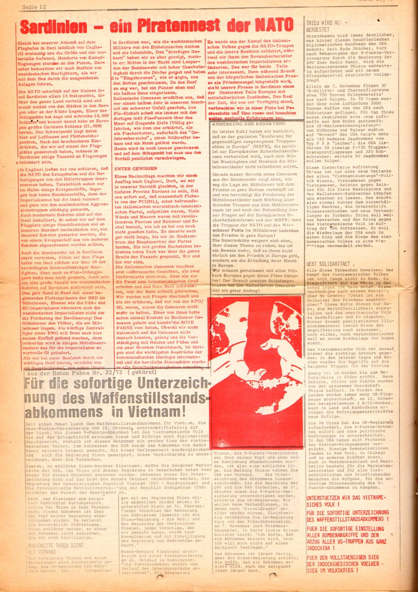 KDAJ, 3. Jg., Dezember 1972, Nr. 11, Seite 12