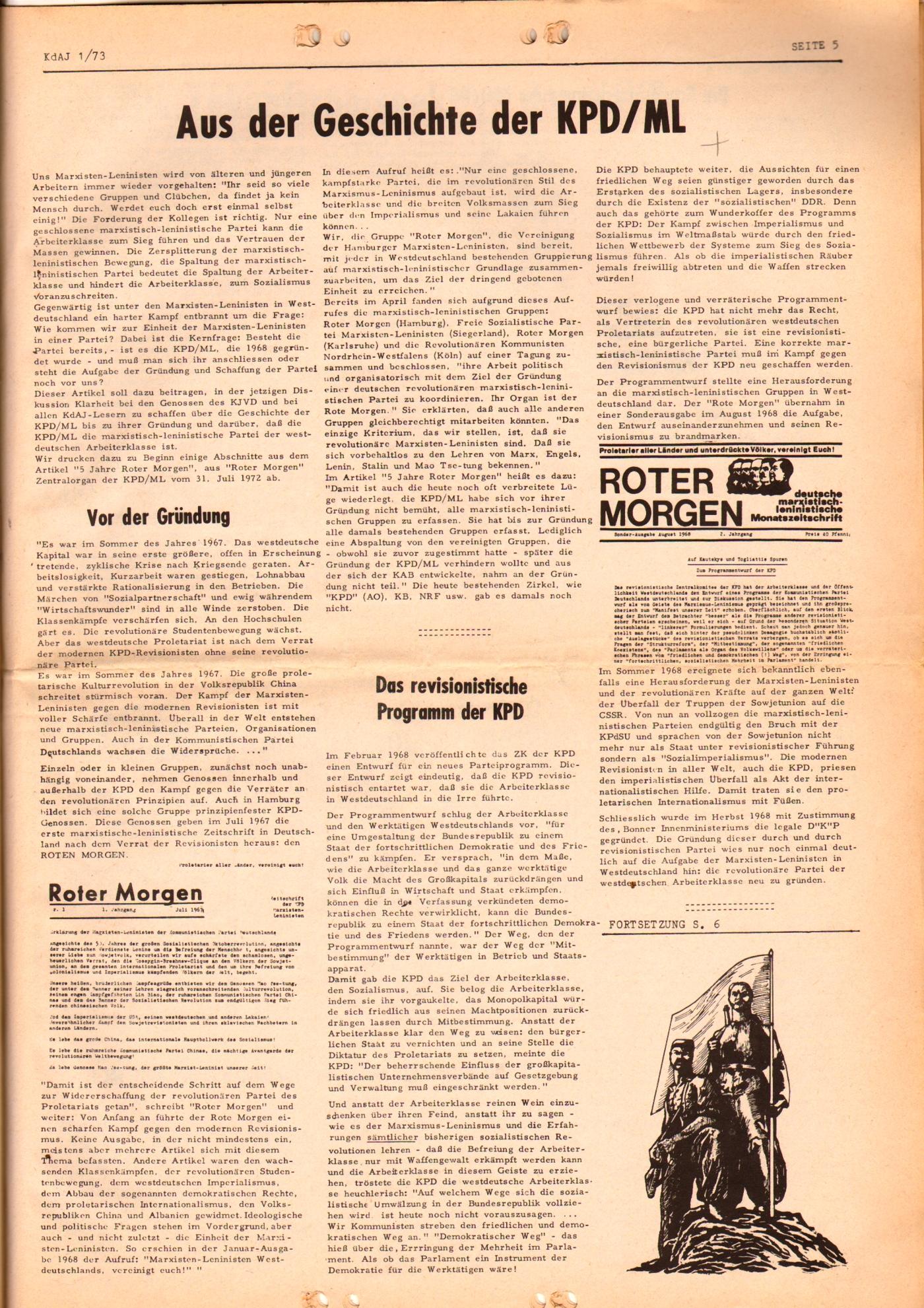 KDAJ, 4. Jg., März 1973, Nr. 1, Seite 5