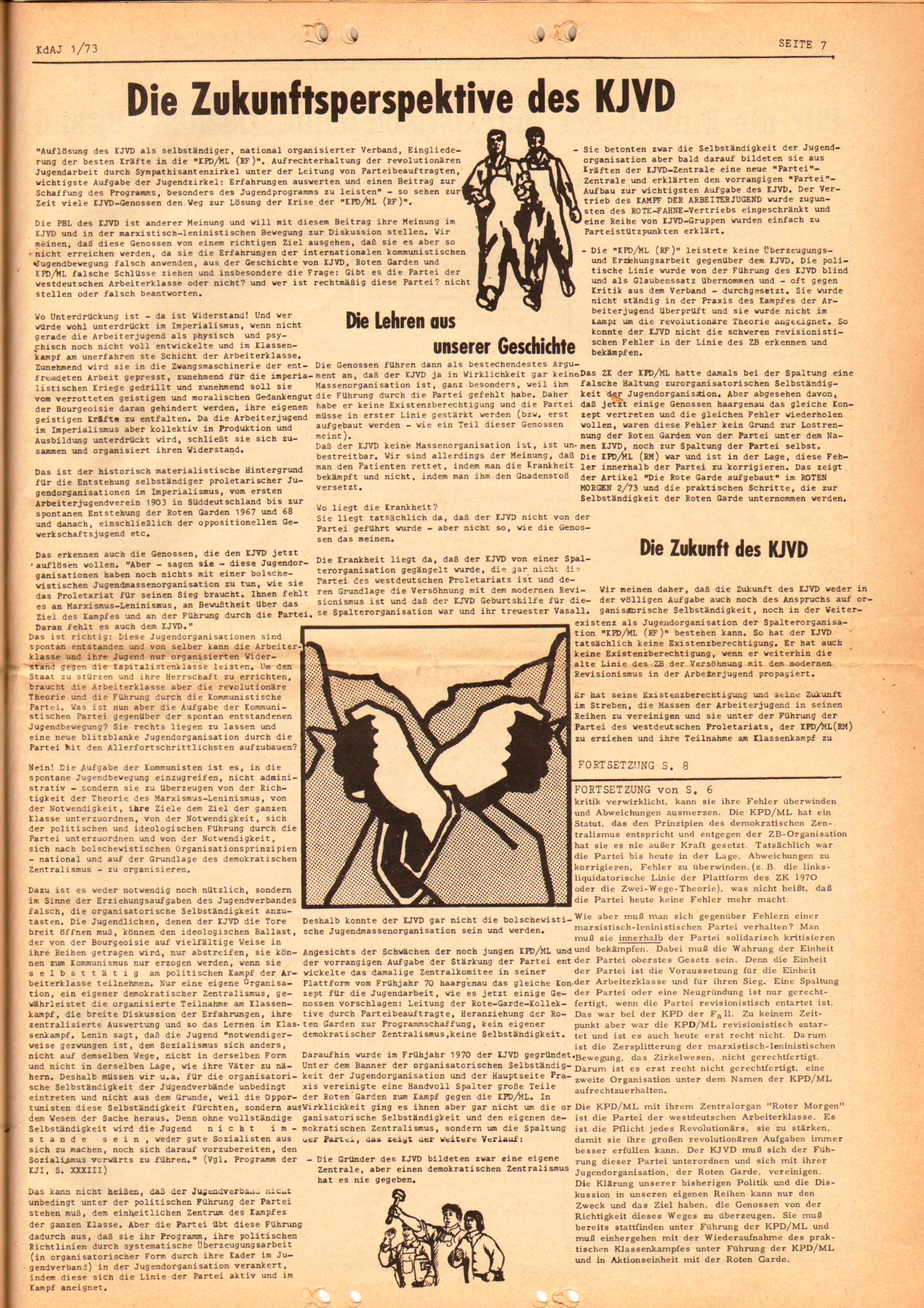 KDAJ, 4. Jg., März 1973, Nr. 1, Seite 7