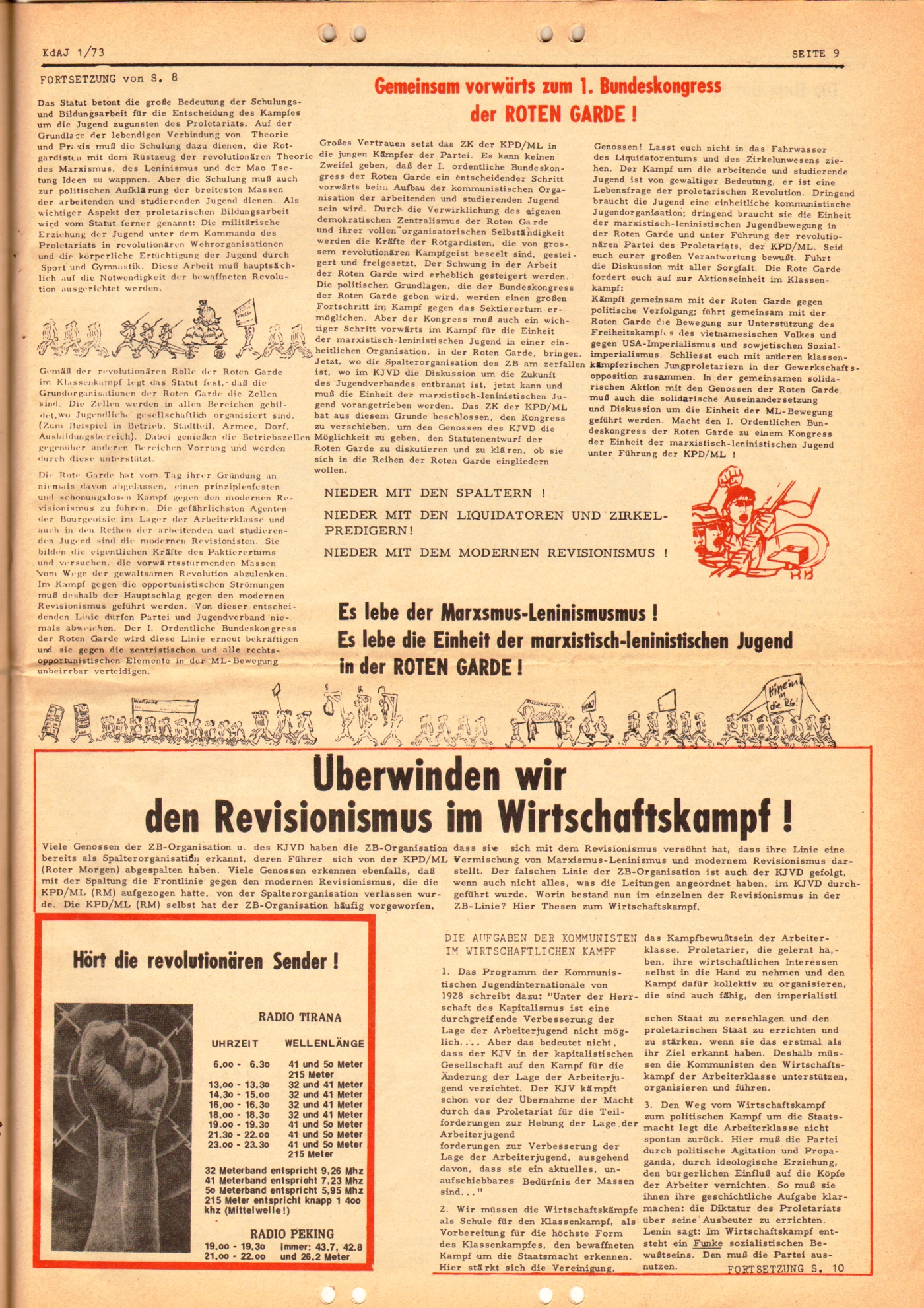 KDAJ, 4. Jg., März 1973, Nr. 1, Seite 9