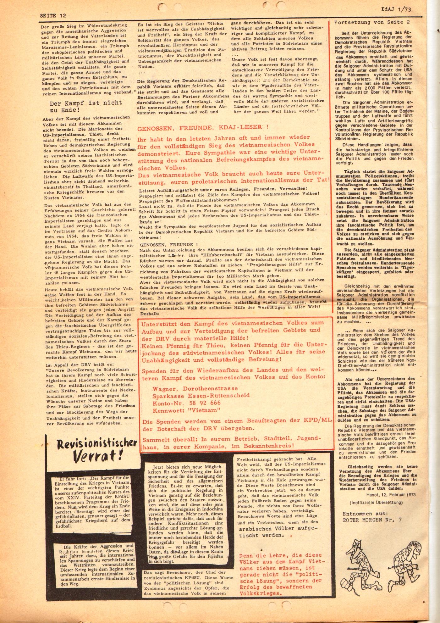 KDAJ, 4. Jg., März 1973, Nr. 1, Seite 12