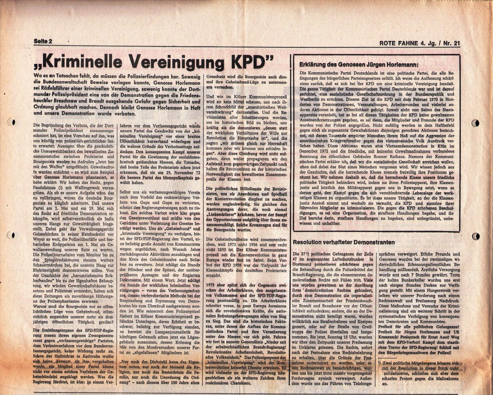 KPD_Rote_Fahne_1973_21_03