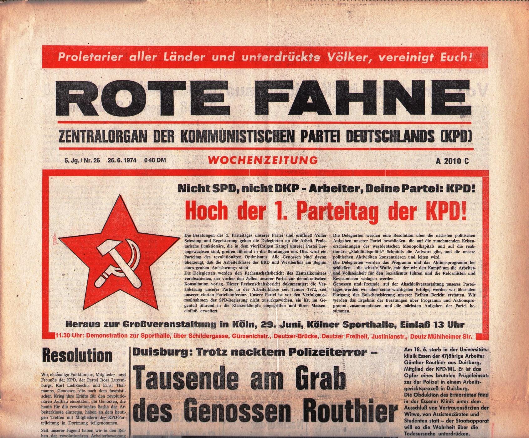 KPD_Rote_Fahne_1974_26_01
