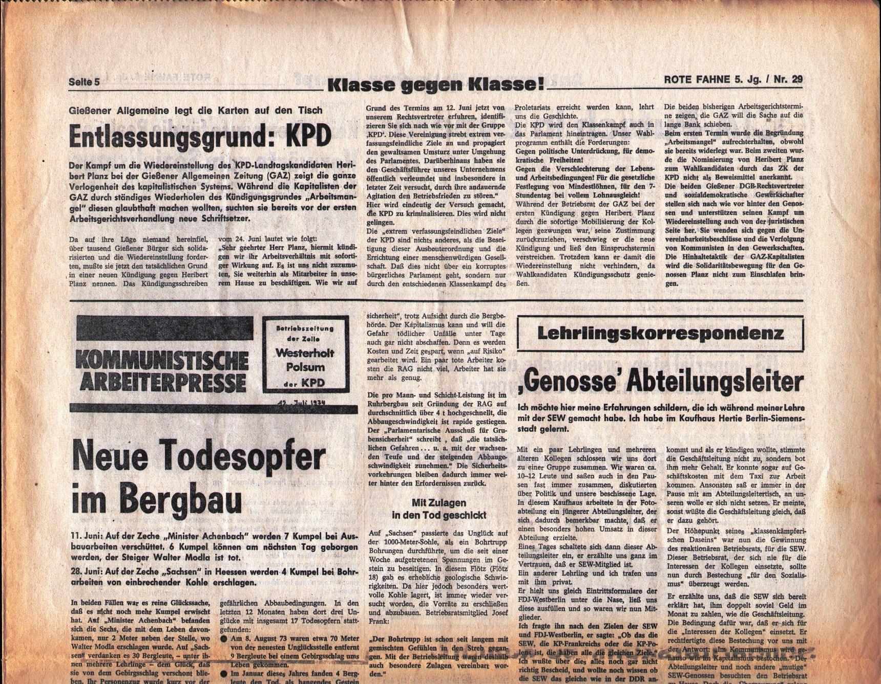 KPD_Rote_Fahne_1974_29_09