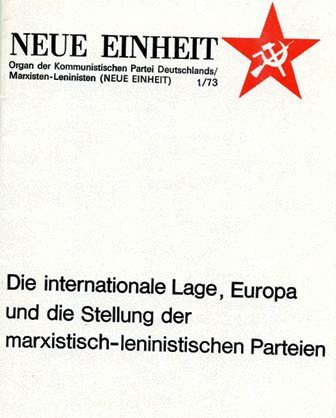 Neue Einheit, 1 (1973)