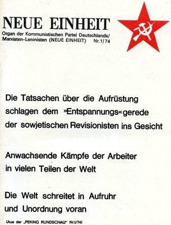 Neue Einheit, 1 (1974)