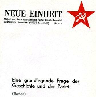Neue Einheit, 1 (1975)