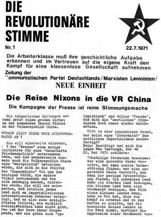 Die Revolutionäre Stimme, 1 (1971)