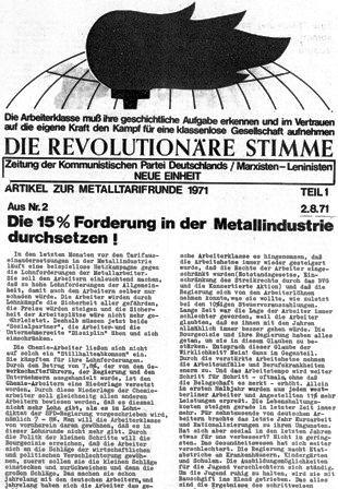 Die Revolutionäre Stimme, 2 (1971)