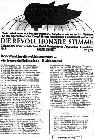Die Revolutionäre Stimme, 5 (1971)