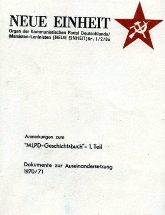 Neue Einheit, 1/2 (1986)