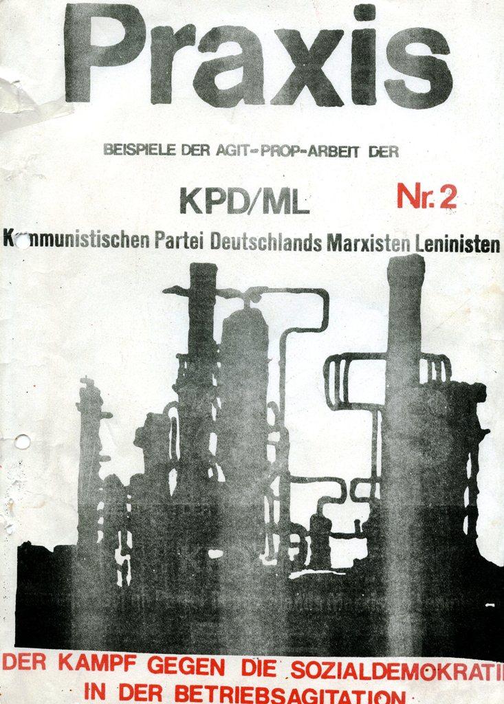 Praxis _ Beispiele der Agit_Prop_Arbeit der KPD/ML, Nr. 2, Titelseite