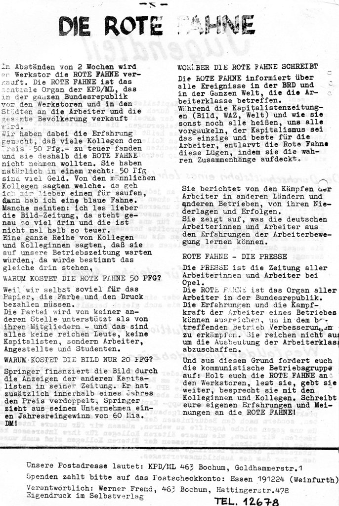 Die Presse, Nr. 1, 1970, Seite 1