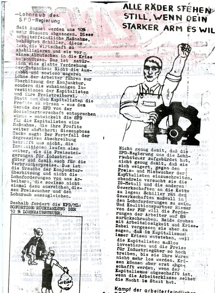 Die Zange, Nr. 1, 1970, Seite 2