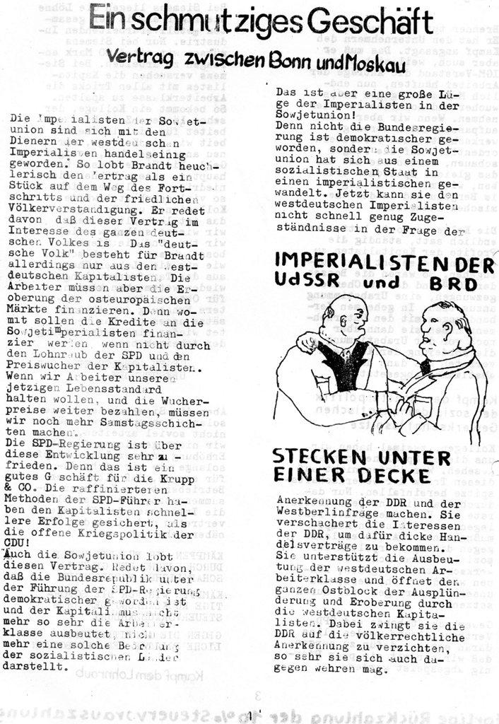 Die Zange, Nr. 1, 1970, Seite 4
