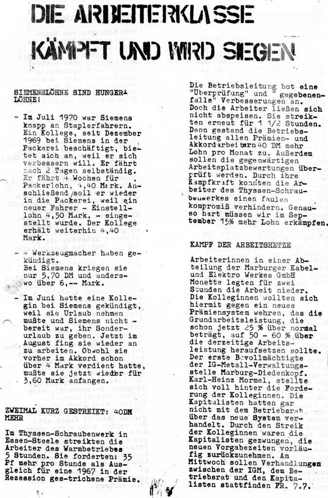 Die Zange, Nr. 1, 1970, Seite 5