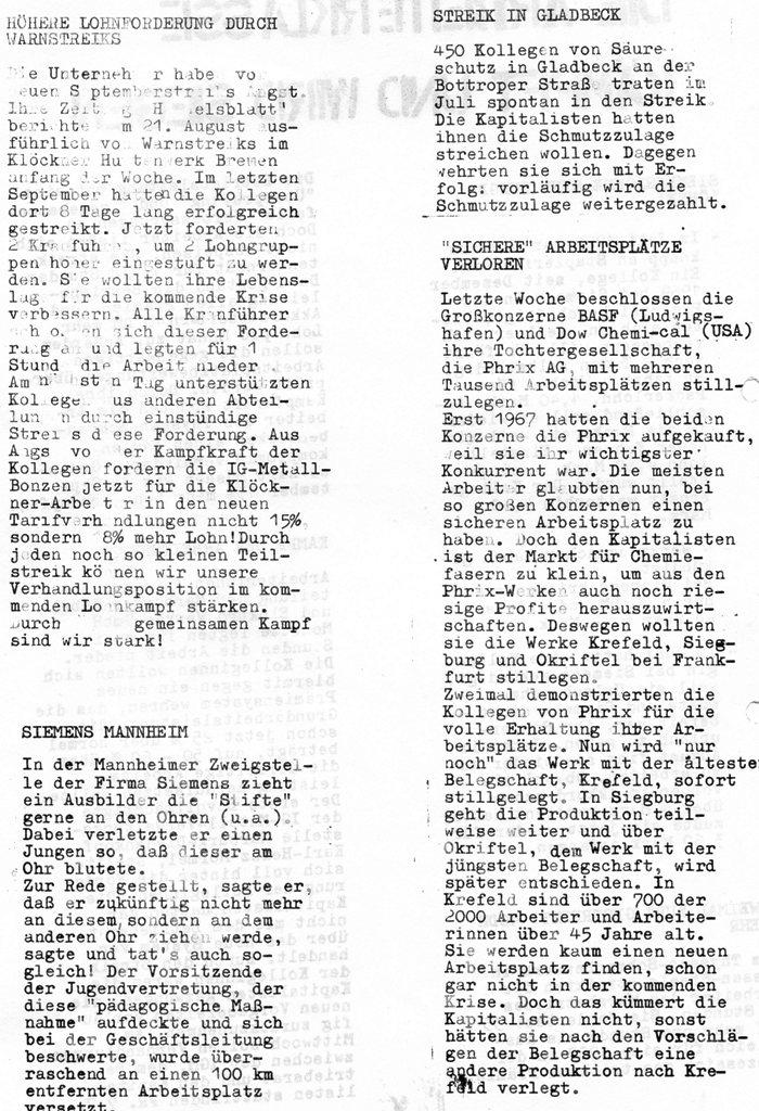 Die Zange, Nr. 1, 1970, Seite 6