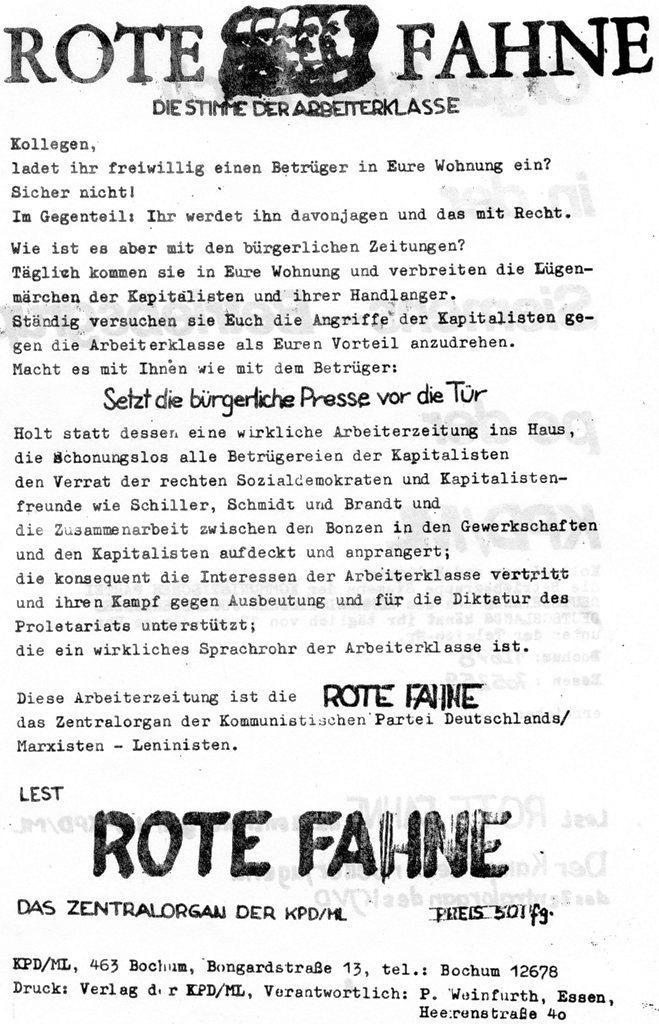 Die Zange, Nr. 1, 1970, Seite 7