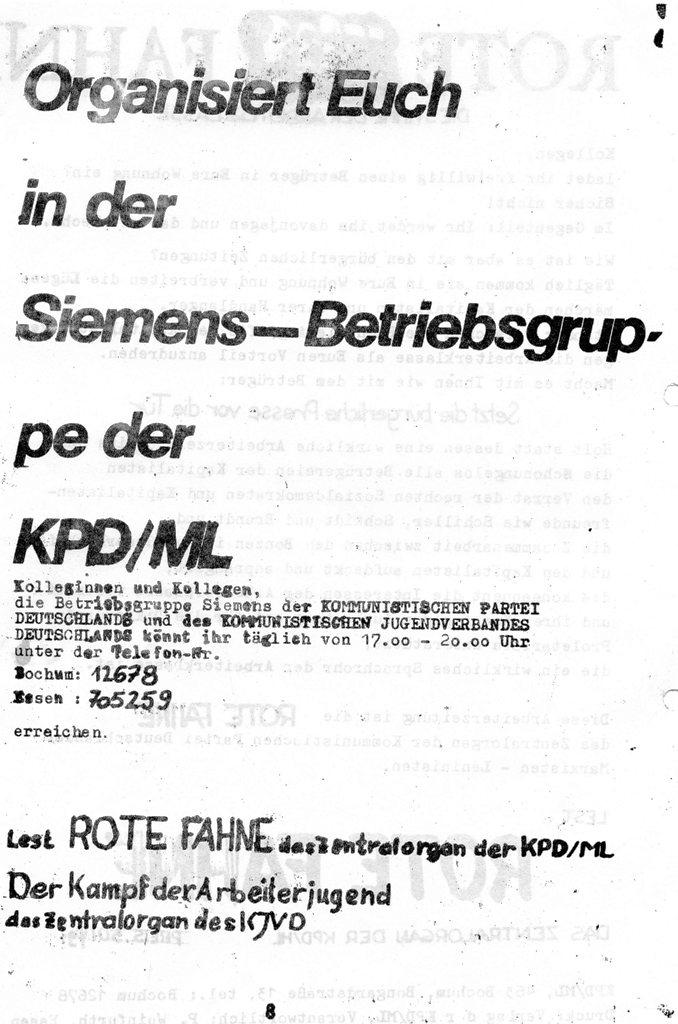 Die Zange, Nr. 1, 1970, Seite 8