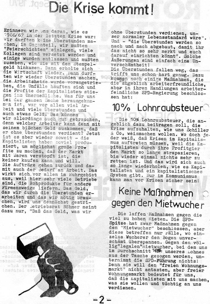 Roter Hütten_Arbeiter, Nr. 5, Sept. 1970, Seite 2