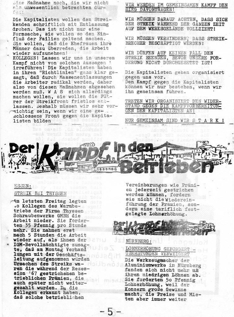 Roter Hütten_Arbeiter, Nr. 5, Sept. 1970, Seite 5