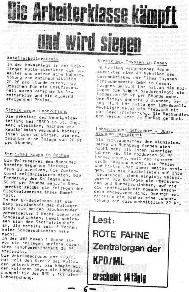 Der Rote W_Arbeiter, Nr. 7, August 1970, Seite 6