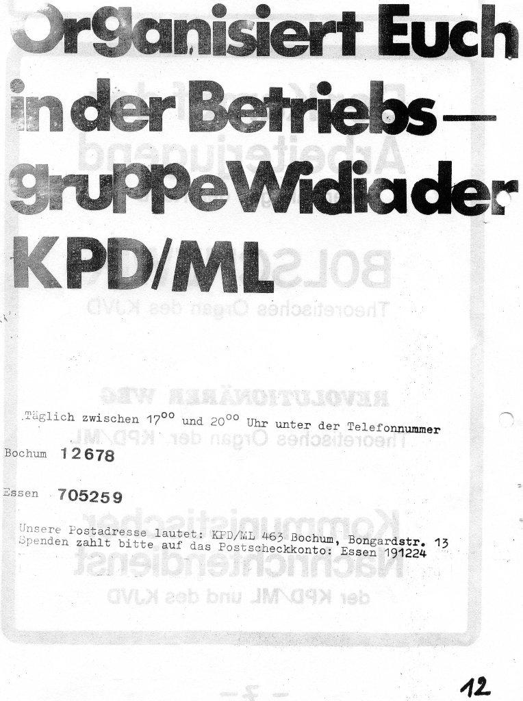 Der Rote W_Arbeiter, Nr. 7, August 1970, Seite 8