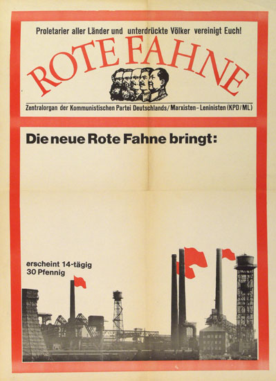 Plakat: Die neue Rote Fahne bringt