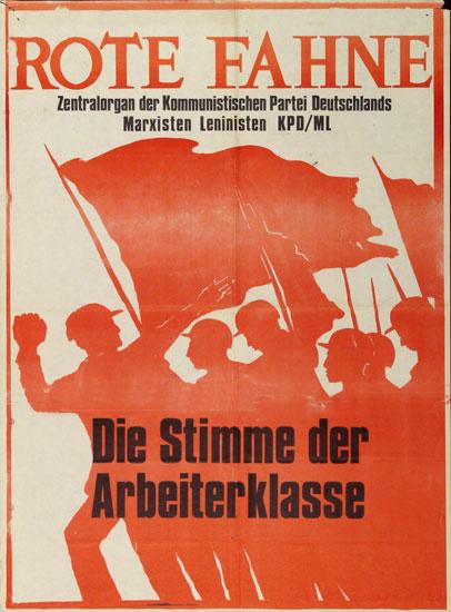 Plakat: Rote Fahne. Die Stimme der Arbeiterklasse