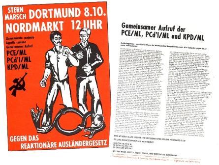 Plakat und Aufruf von PCE/ML, PCd'I/ML und KPD/ML_ZK