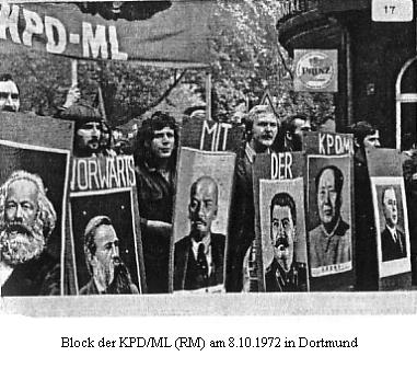 Demonstration in Dortmund am 8.10.1972