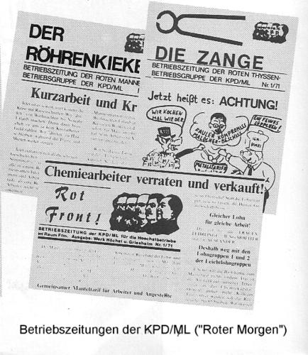 """Betriebszeitungen der KPD/ML (""""Roter Morgen"""")"""