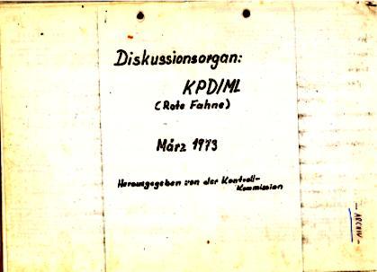 Diskussionsorgan: KPD/ML (Rote Fahne), März 1973