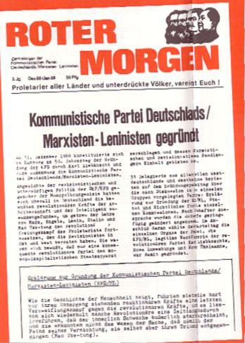 Roter Morgen vom Dezember 1968/Januar 1969