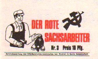 Der Rote Sachsarbeiter _ Betriebszeitung der KPD/ML (1973)